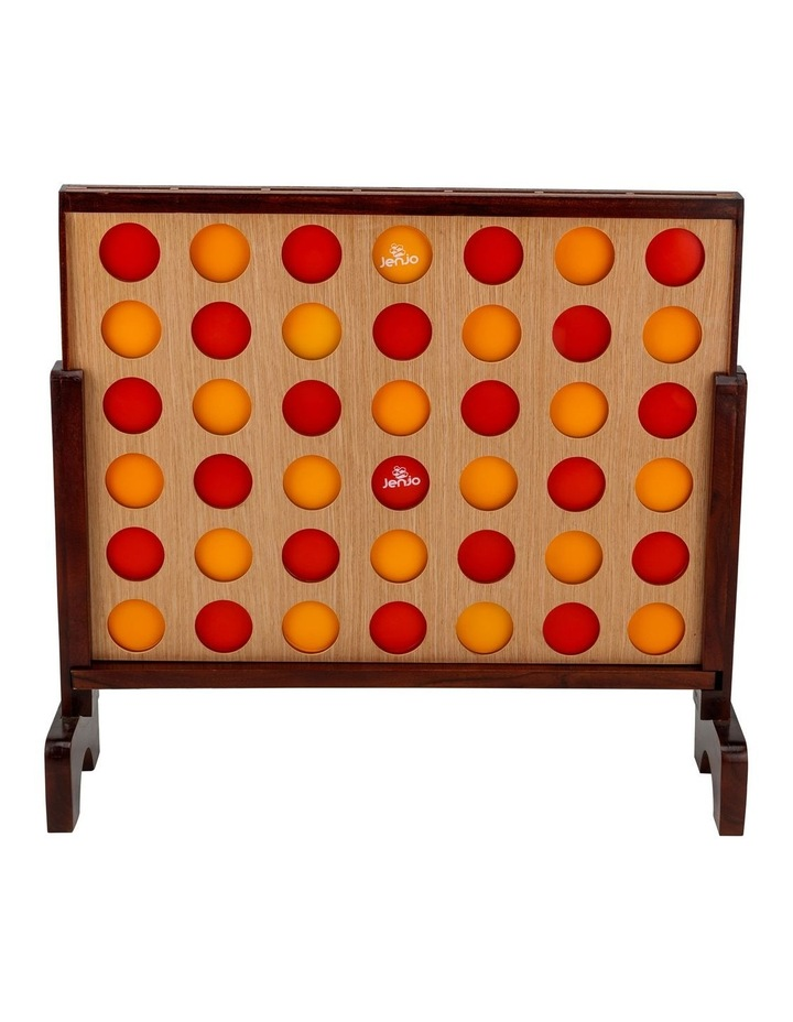 Mega Hardwood Connect Four In A Row Game Set 75x79cm image 2