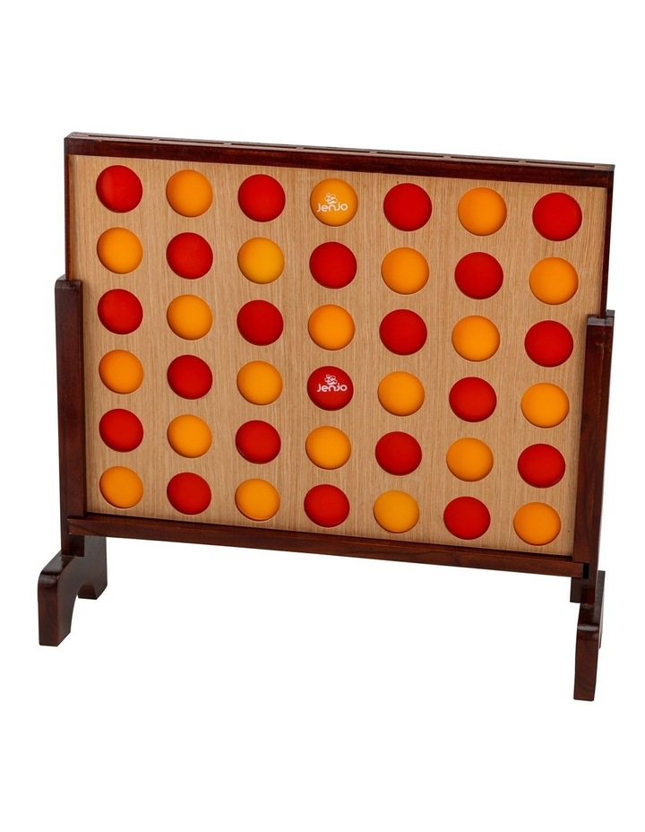 Mega Hardwood Connect Four In A Row Game Set 75x79cm image 3