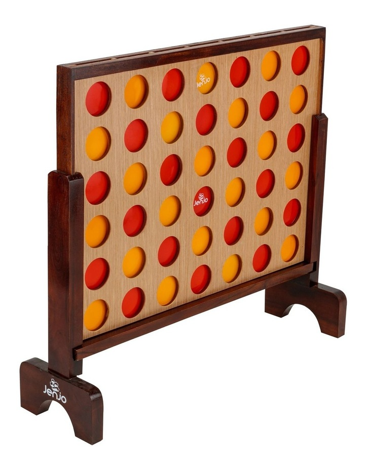 Mega Hardwood Connect Four In A Row Game Set 75x79cm image 4