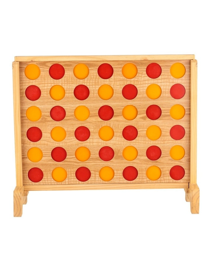 Mega Plywood Connect Four In A Row Game Set 69x79cm image 1