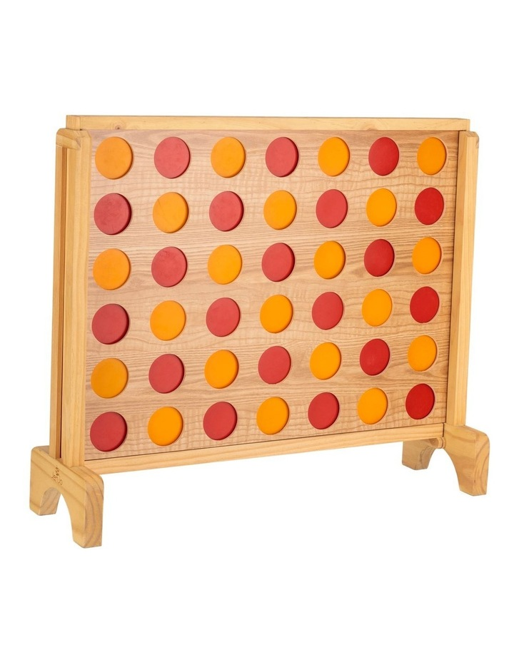 Mega Plywood Connect Four In A Row Game Set 69x79cm image 3
