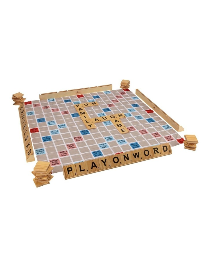Giant Size Play On Words Set w/Carry Bag & Playing Mat 1.5x1.5m image 2