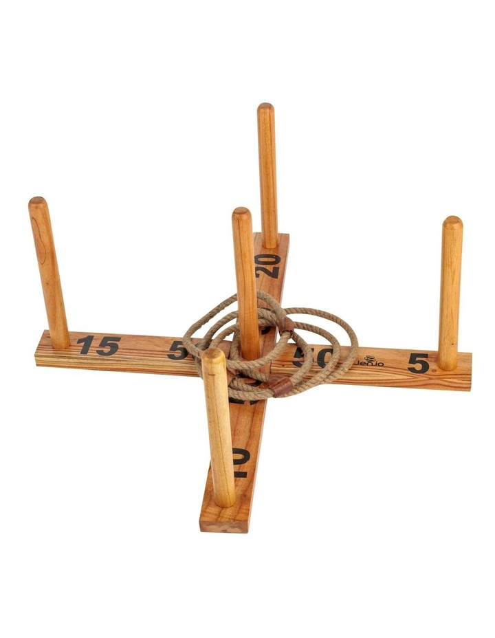 Giant Wooden Rope Ring Toss Quoits Outdoor Game Set image 2