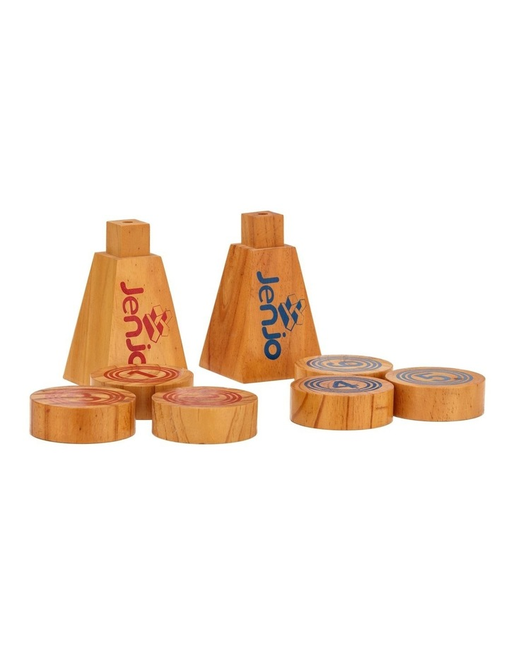 Wooden Rollers Bowling Outdoor Lawn Game Set image 2