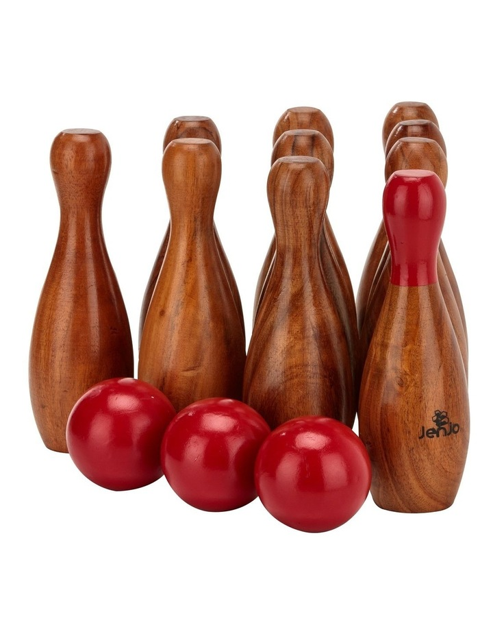 Outdoor Wooden Skittles Bowling Lawn Game Set image 2