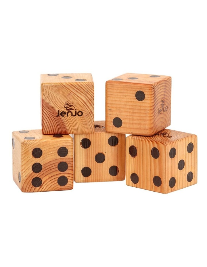 Giant Wooden Dice Game Set with Scorecards image 1