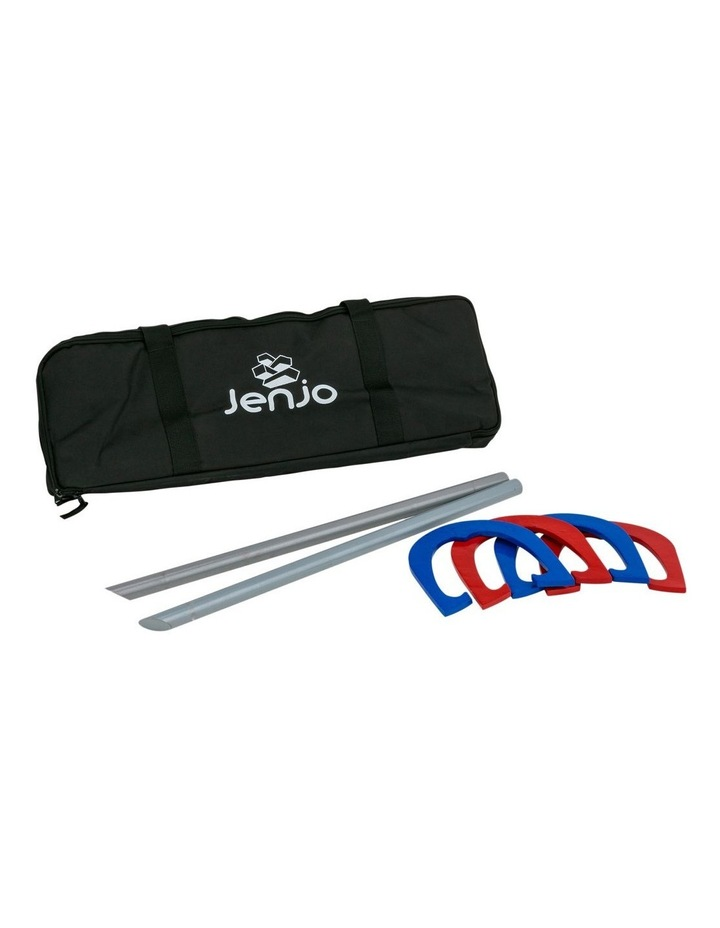 Red & Blue Metal Horseshoes with Carry Bag image 1