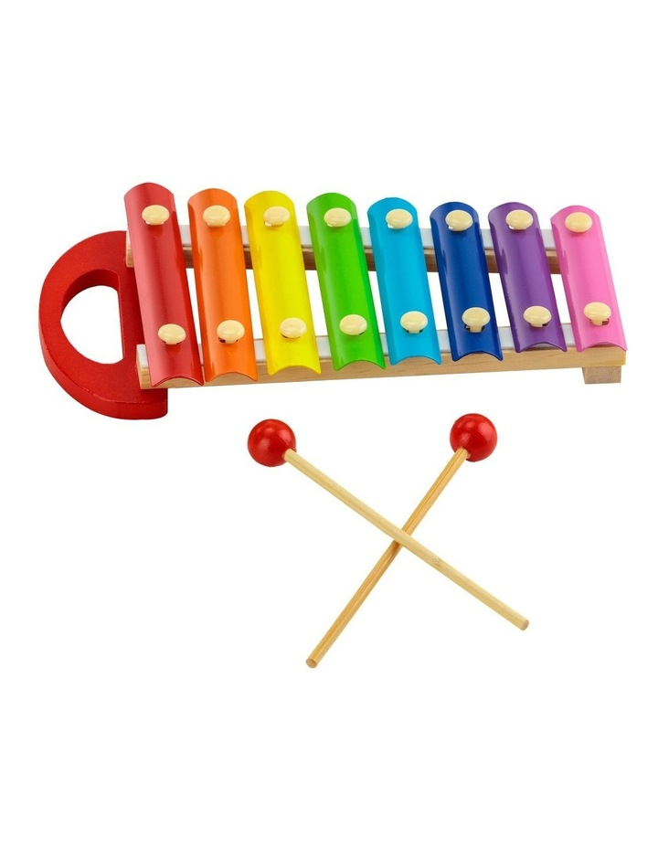 Colourful Musical Xylophone With Wooden Mallets image 1