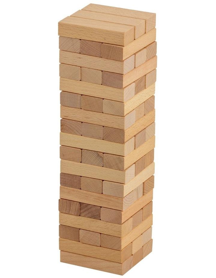 54 Piece Mini Jenjo Outdoor Wooden Block Game 27cm image 1