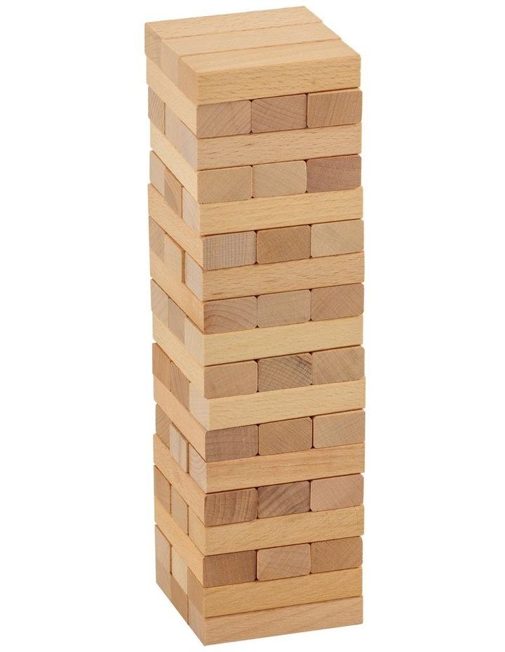 54 Piece Mini Jenjo Outdoor Wooden Block Game 27cm image 2