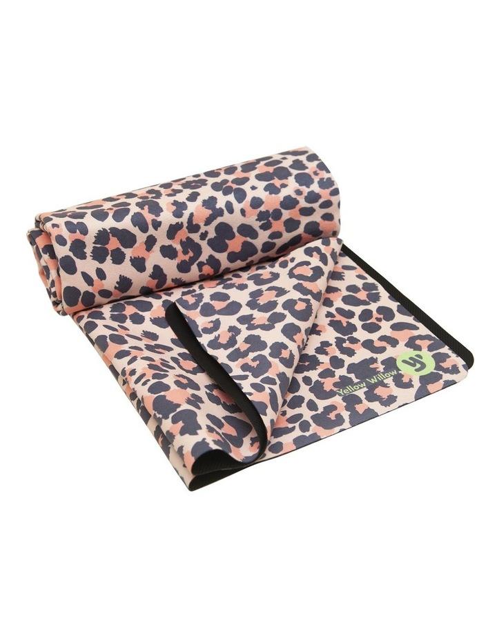 Blush Leopard Non-Slip Yoga Towel image 3