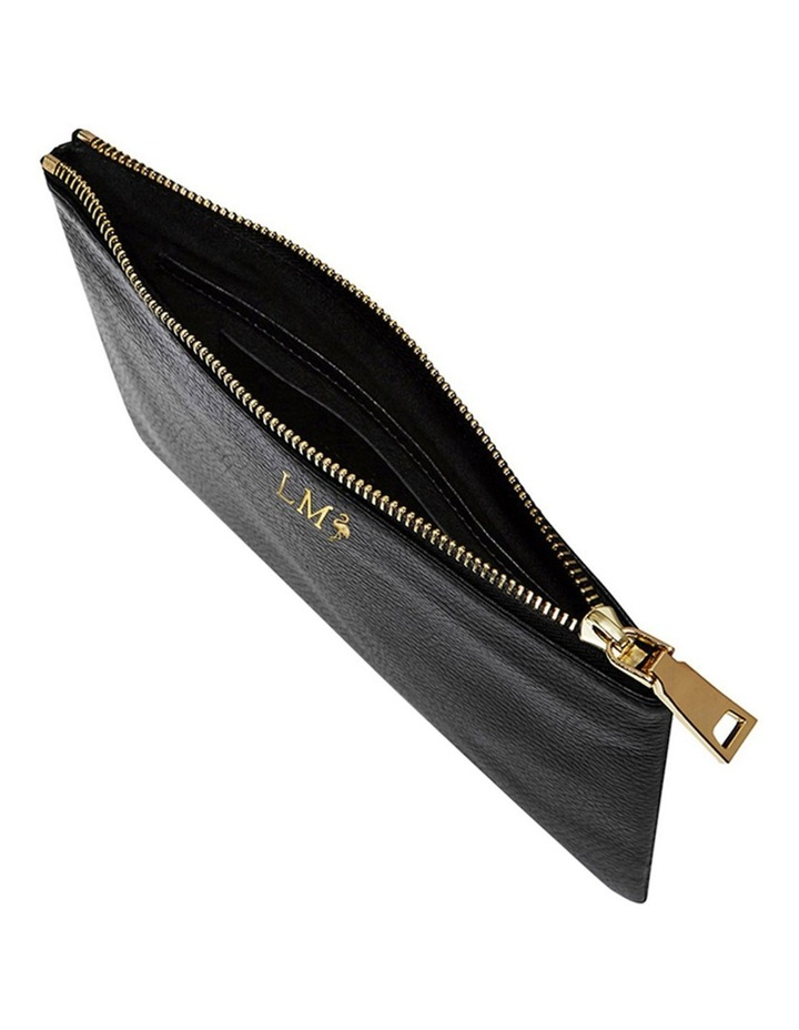 Grainy Black Pouch (Gold Zip) image 3