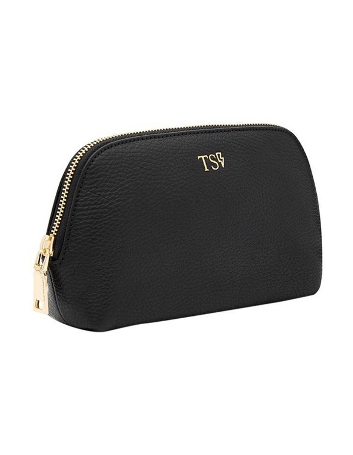 Grainy Black Cosmetic Case (Gold Zip) image 4
