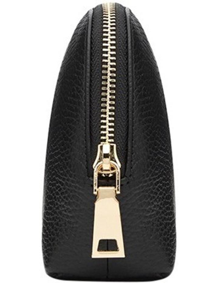 Grainy Black Cosmetic Case (Gold Zip) image 5