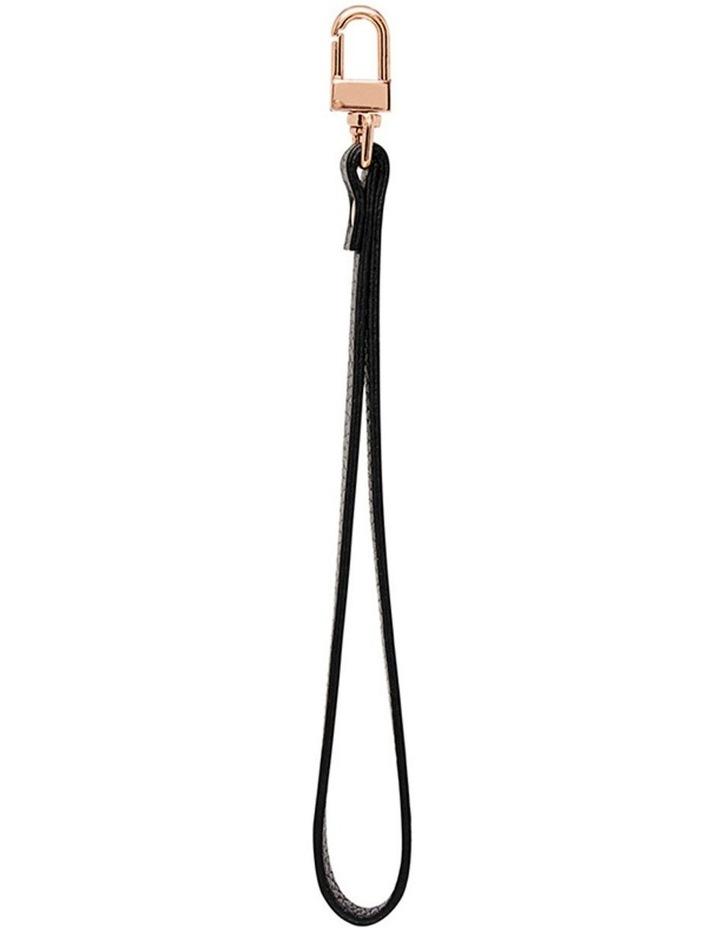 Grainy Black Pouch Wristlet (Gold Clasp) image 1
