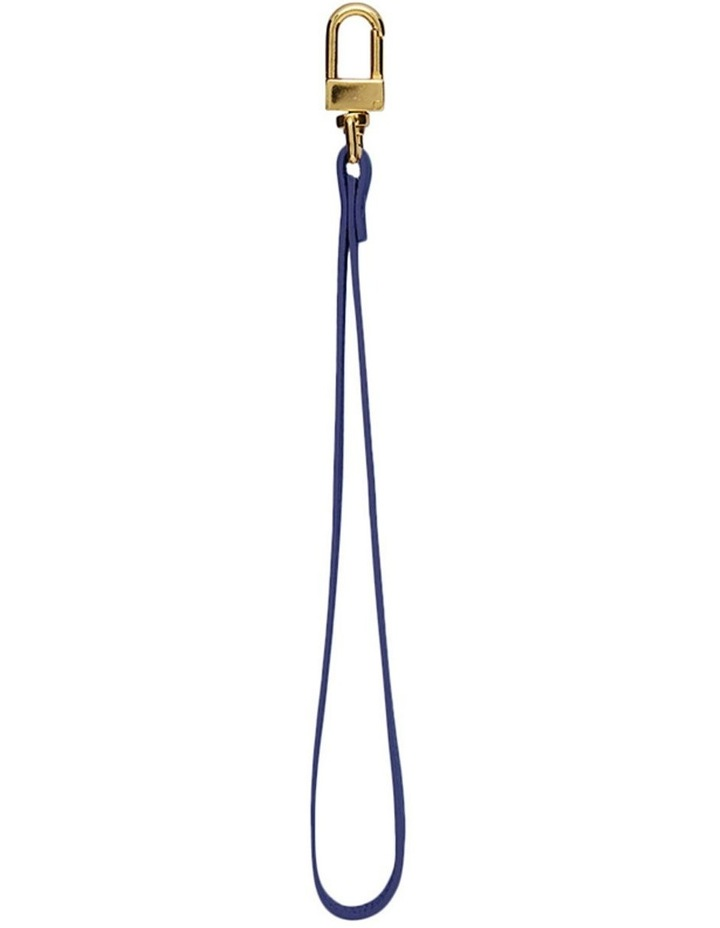 Grainy Navy Blue Pouch Wristlet (Gold Clasp) image 1