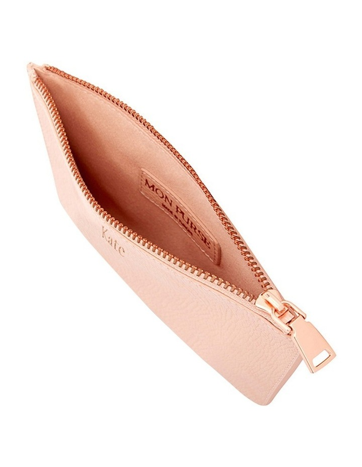 Grainy Blush Small Pouch (Rose Gold Zip) image 2