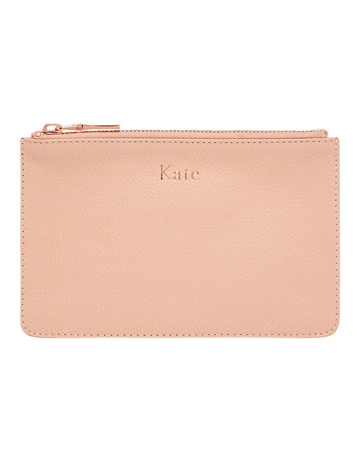 Grainy Blush Small Pouch (Rose Gold Zip) image 1