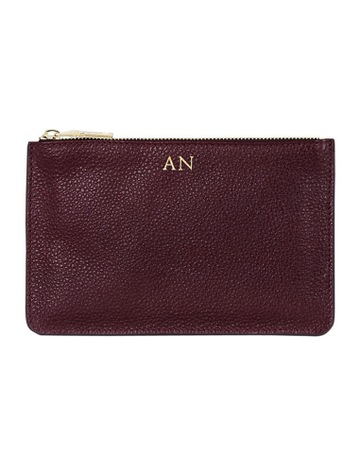 Limited stock. MON PURSEGrainy Burgundy Small Pouch ... 7bf2c465a0