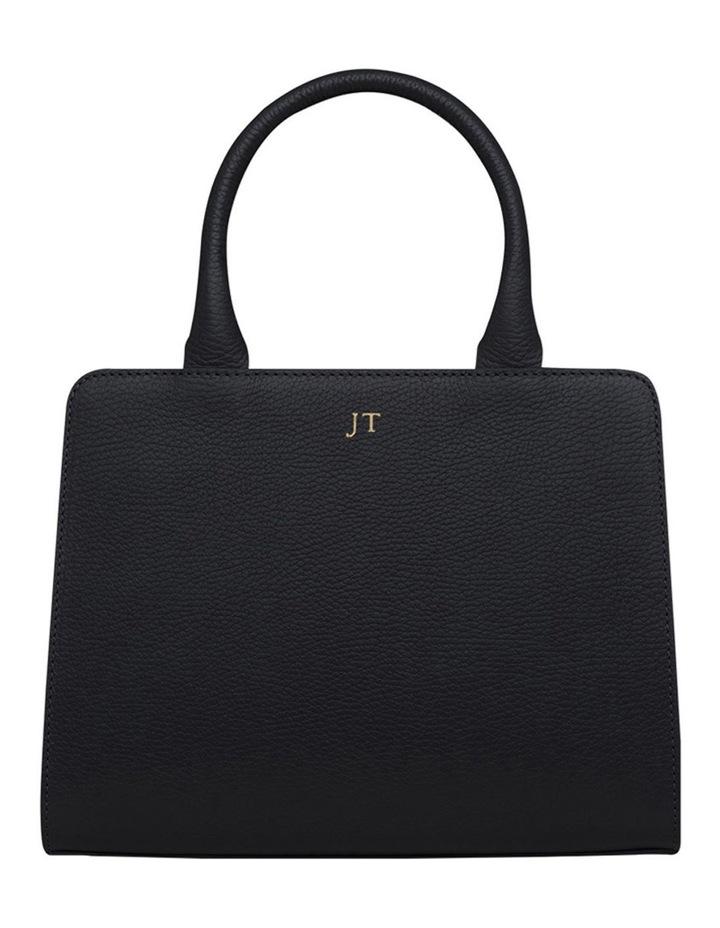 Grainy Black Mini Tote Bag (Gold Zip) image 1