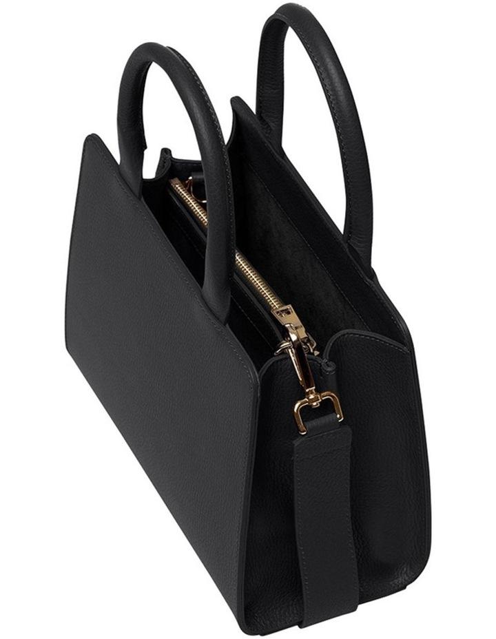 Grainy Black Mini Tote Bag (Gold Zip) image 2