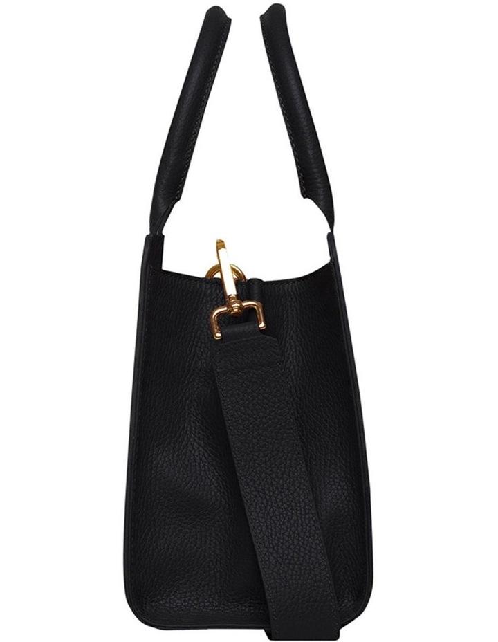 Grainy Black Mini Tote Bag (Gold Zip) image 3