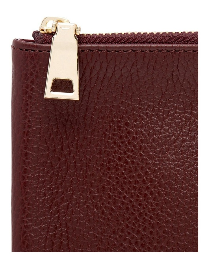 Grainy Burgundy Large Pouch (Gold Zip) image 3