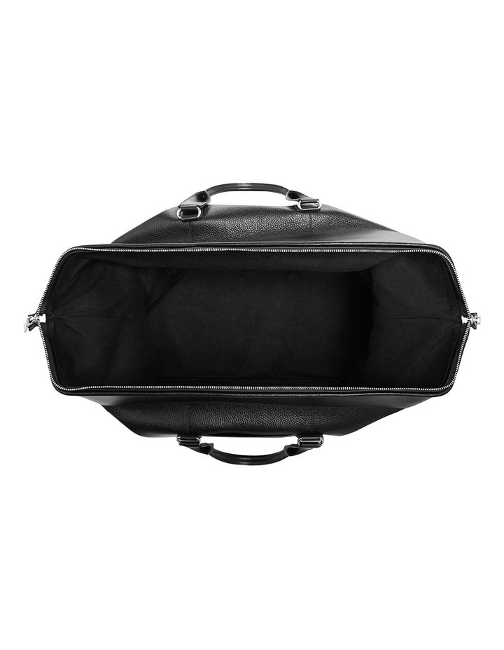 Grainy Black Weekender Bag (Silver Zip) image 3