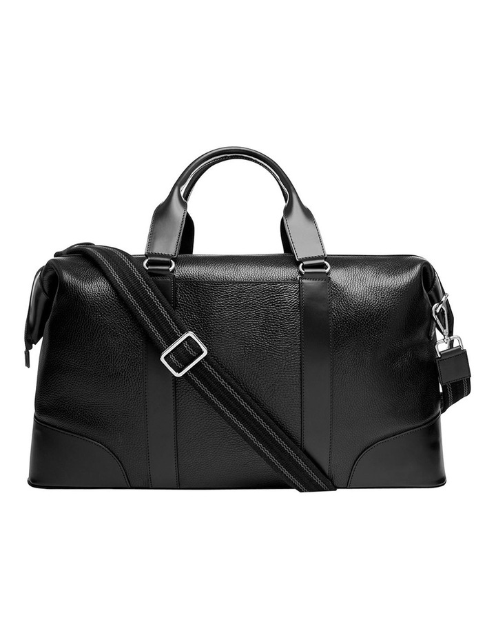 Grainy Black Weekender Bag (Silver Zip) image 4