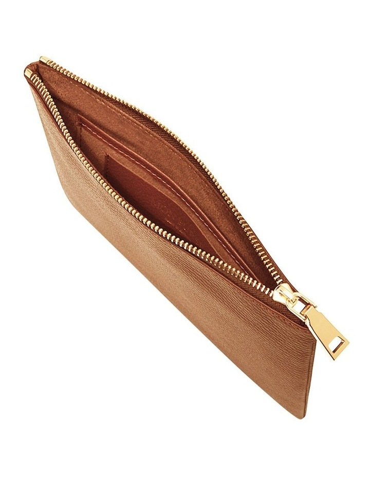 Grainy Tan Pouch (Gold Zip) image 2