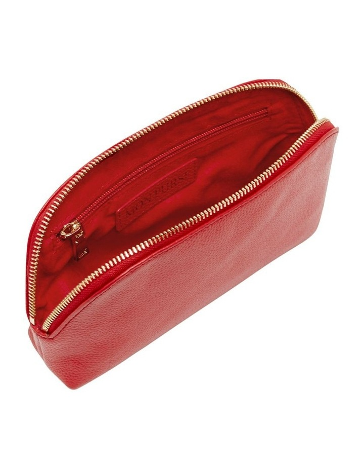 Grainy Red Cosmetic Case (Gold Zip) image 2