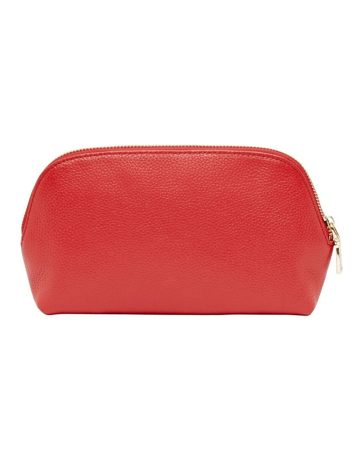 Grainy Red Cosmetic Case (Gold Zip) image 4