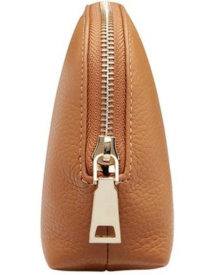 Grainy Tan Cosmetic Case (Gold Zip) image 3