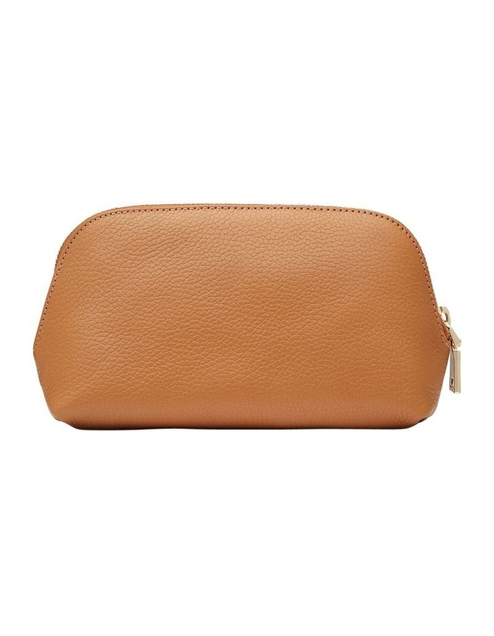 Grainy Tan Cosmetic Case (Gold Zip) image 4