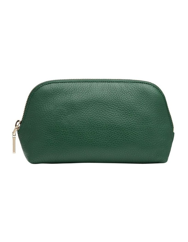 Grainy Moss Green Cosmetic Case (Gold Zip) image 1