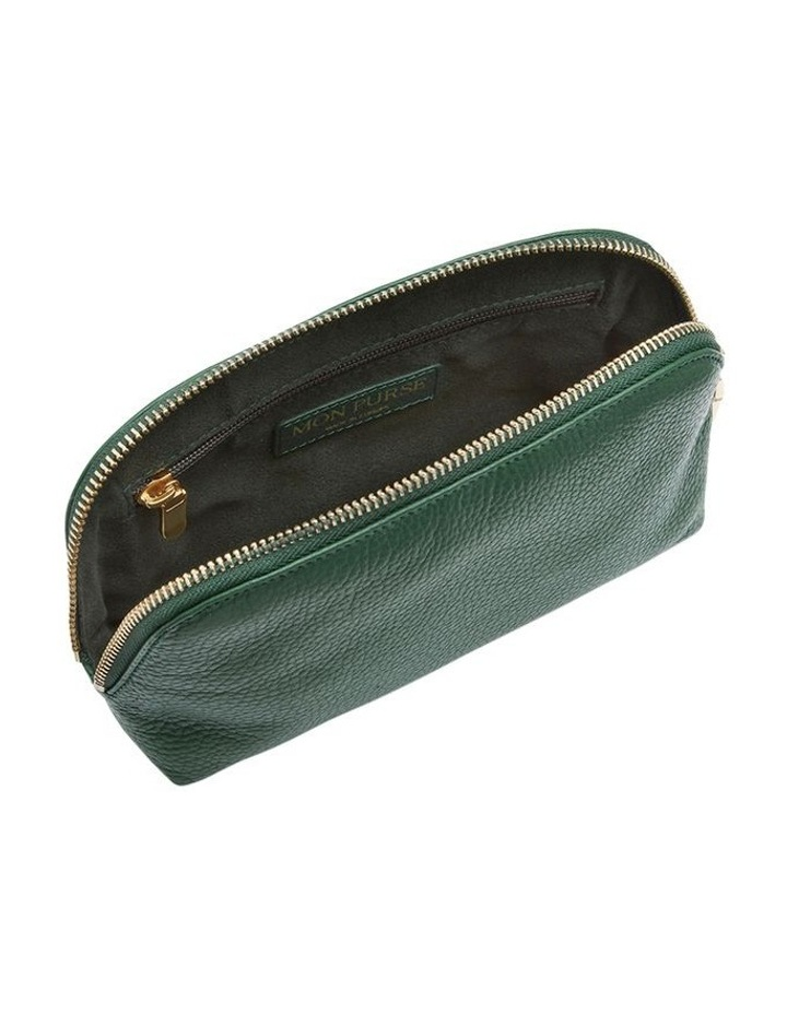 Grainy Moss Green Cosmetic Case (Gold Zip) image 2