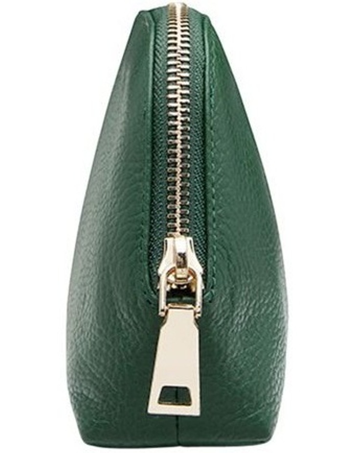 Grainy Moss Green Cosmetic Case (Gold Zip) image 3