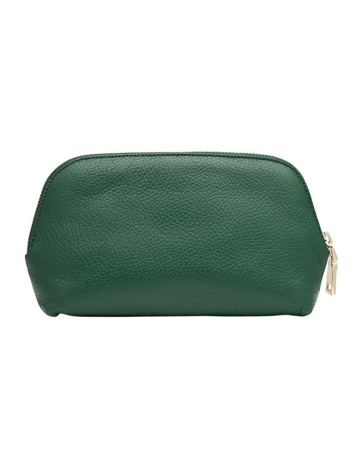 Grainy Moss Green Cosmetic Case (Gold Zip) image 4
