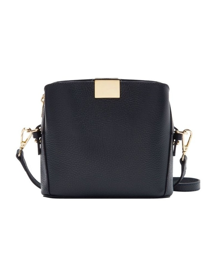 Grainy Navy Square Evening Bag (Gold Zip) image 1