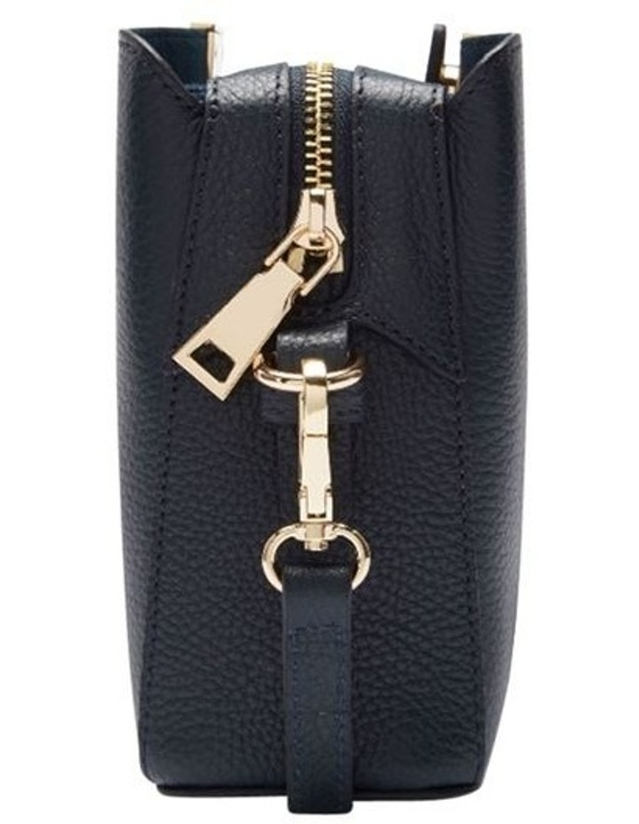 Grainy Navy Square Evening Bag (Gold Zip) image 3