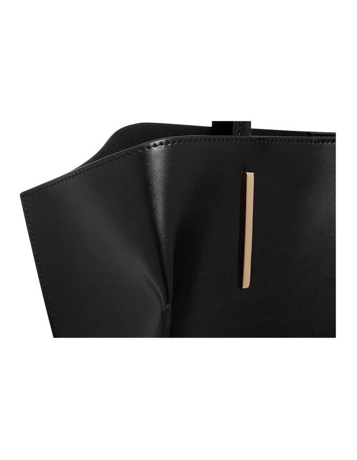 Smooth Black Angular Tote Bag (Gold Hardware) image 4