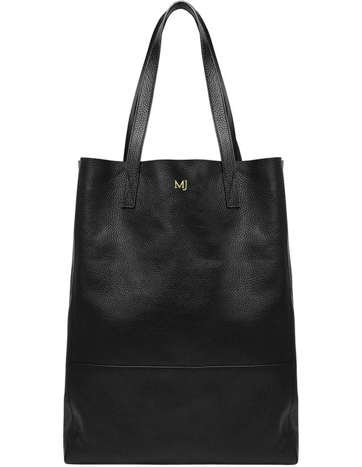 Grainy Black Soft Shopper Bag (Gold Zip) image 1 9b808297a