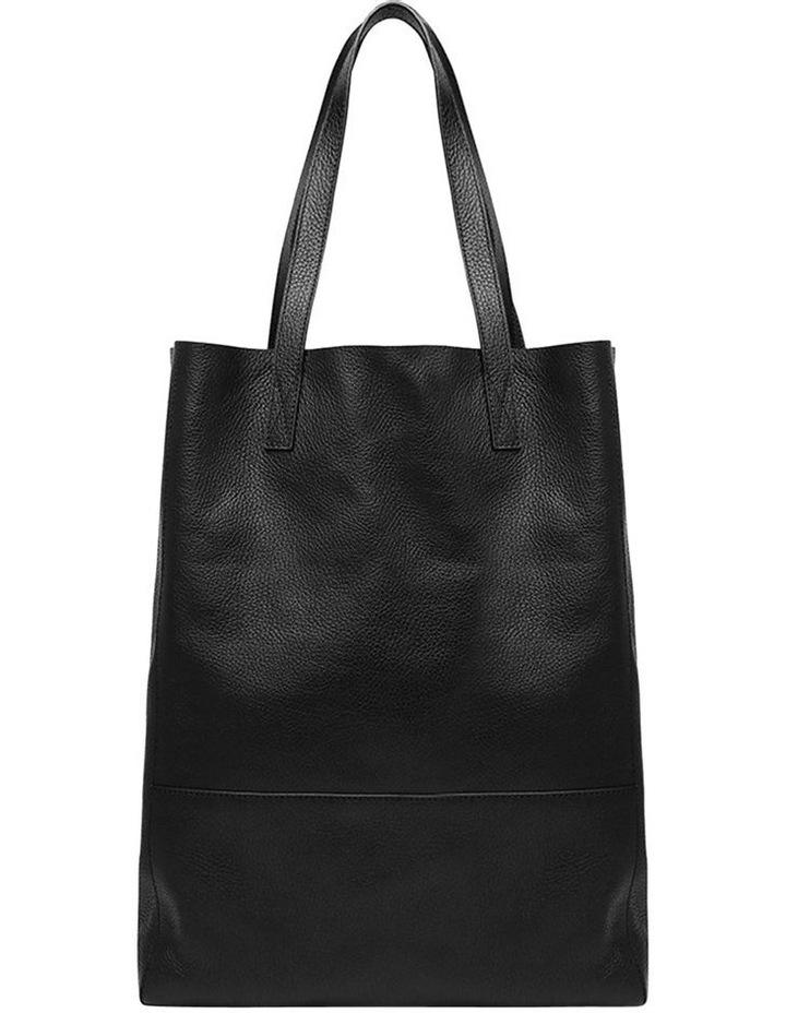 Grainy Black Soft Shopper Bag (Gold Zip) image 4