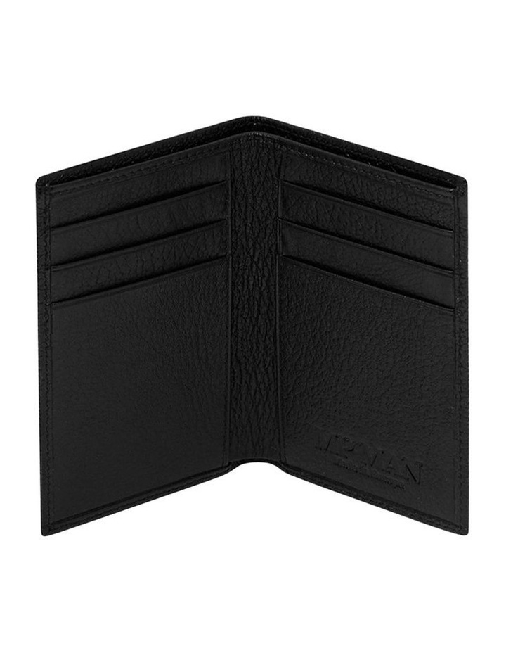 Grainy Black Men's Small Bifold Wallet image 3
