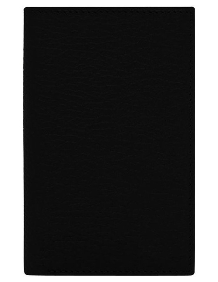 Grainy Black Men's Small Bifold Wallet image 4