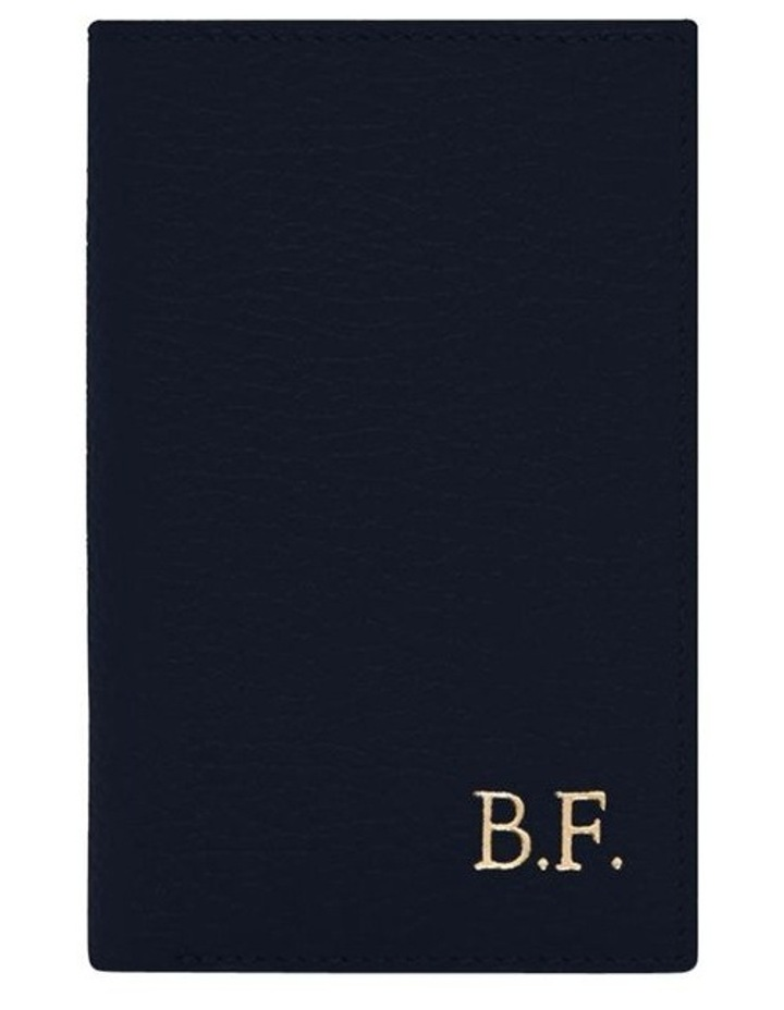 Grainy Navy Men's Small Bifold Wallet image 1