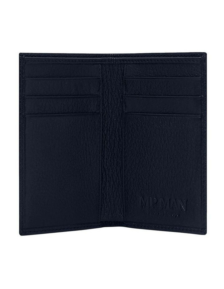 Grainy Navy Men's Small Bifold Wallet image 2