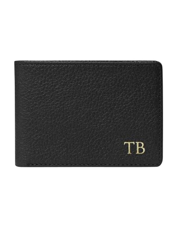 Grainy Black Men's Wallet image 1