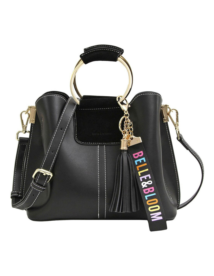 Twilight Leather Cross Body Bag Black image 1