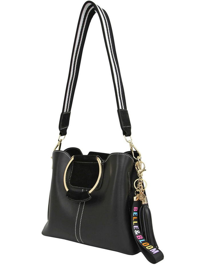 Twilight Leather Cross Body Bag Black image 2